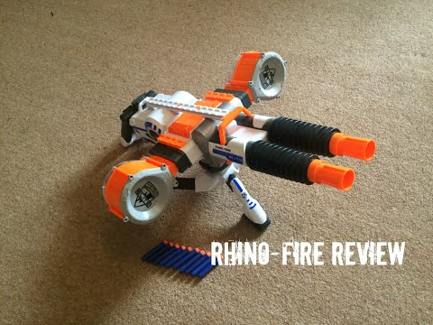Nerf N-Strike Elite Rhino-Fire Unboxing. Review & Range Test