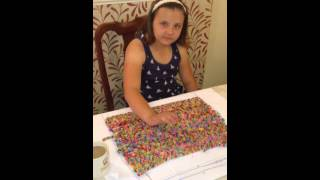 Loom Band Dress - Video 16 - First child to make a adult size loom band dress