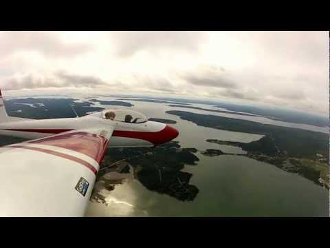 Schweizer SGS 2-32 over Bar Harbor, ME and Acadia Nat'l Park (KBHB) 5/6 HD