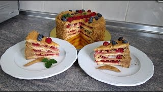 Торт Наполеон с заварным кремом, кулинарный рецепт