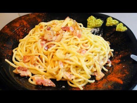 Как готовить пасту карбонару - видео