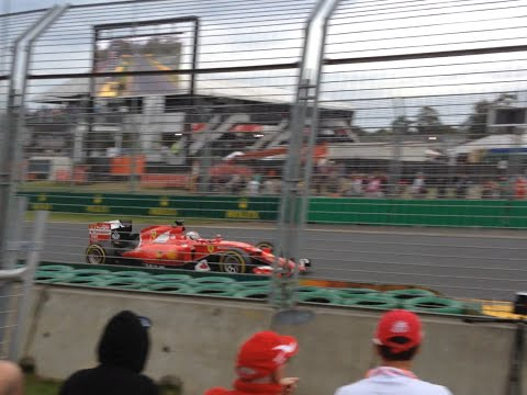 Australian Grand Prix Qualifying 2015 - Lewis Hamilton, Felipe Massa & Sebastian Vettel Turns 1 & 2