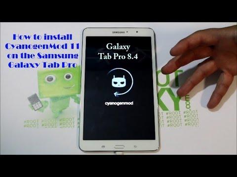Samsung Galaxy Tab Pro CM11 rom install