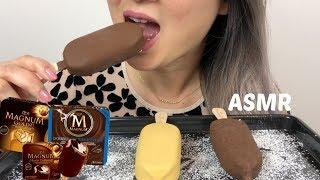 MAGNUM ICE CREAM BAR | ASMR *NO TALKING Eating Sounds| N.E Lets Eat
