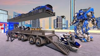 US Police Robot Transform Police Plane Transport (by Fazbro) Android Gameplay [HD]