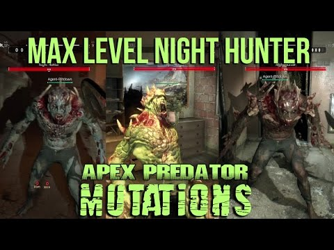 Dying Light - All Night Hunter Mutations Skill Showcase - Be the Zombie - Max Level Apex Predator