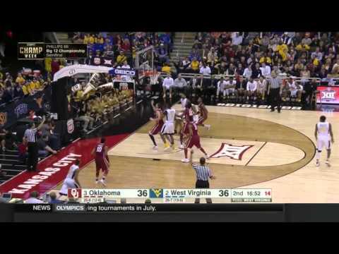 West Virginia Vs Oklahoma | 2015-16 Big 12 Men's Basketball Highlights