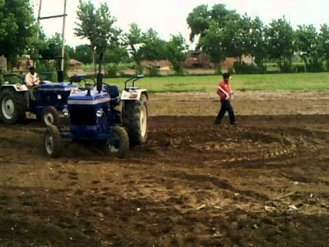 FARMTRAC 45 VS 45 TRACTOR REAL STUNTS WITH ROTAVATOR