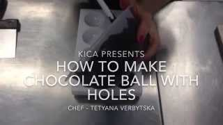 How to make chocolate ball with holes. Как делать шоколадные шары.
