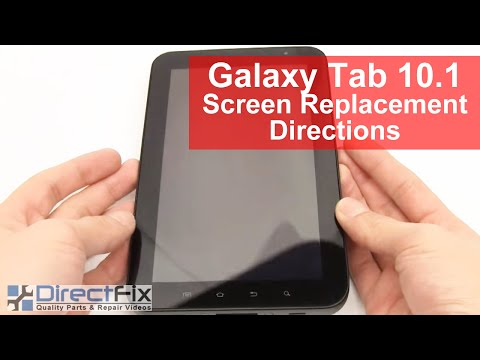Samsung Galaxy Tab Teardown & Screen Repair Directions by DirectFix.com