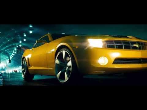Transformers - Bumblebee transforms into new Camaro. whole clip. HD 720p