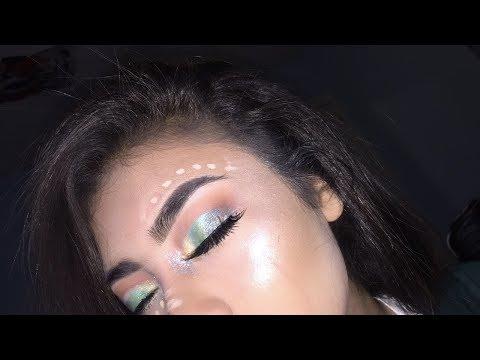 Brandy Arroyo- Green Festival makeup look