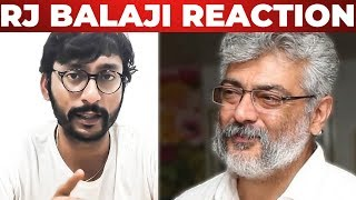 Breaking Statement From Rj Balaji About Thala Ajith's Press Release