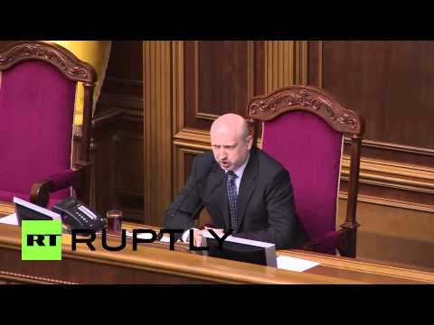 Ukraine: Turchynov condemns Crimean referendum
