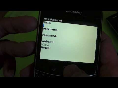 Blackberry Password Blackberry Password Keeper