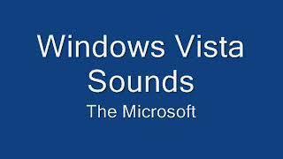 Windows Vista Beta 2 Sounds on Windows XP