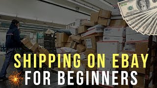 Shipping on eBay for Beginners 2018 ( Cheapest Method, Free Supplies, Tools )