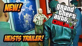GTA 5 Online Heists Gameplay Trailer! (GTA 5 PS4 & Xbox One Gameplay)