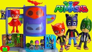 NEW PJ Masks Mission Control Headquarters Catboy, Gekko, Owlette