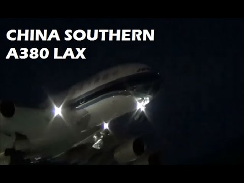 China Southern Airlines Airbus A380-800 Landing at LAX Los Angeles International Airport