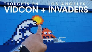 Thoughts While Traveling to VidCon and Space Invader Hunting in Los Angeles