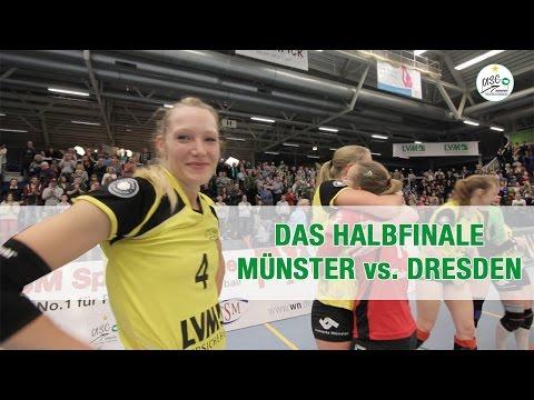 Halbfinale USC Münster vs Dresdner SC - Volleyball Bundesliga 2015/2016