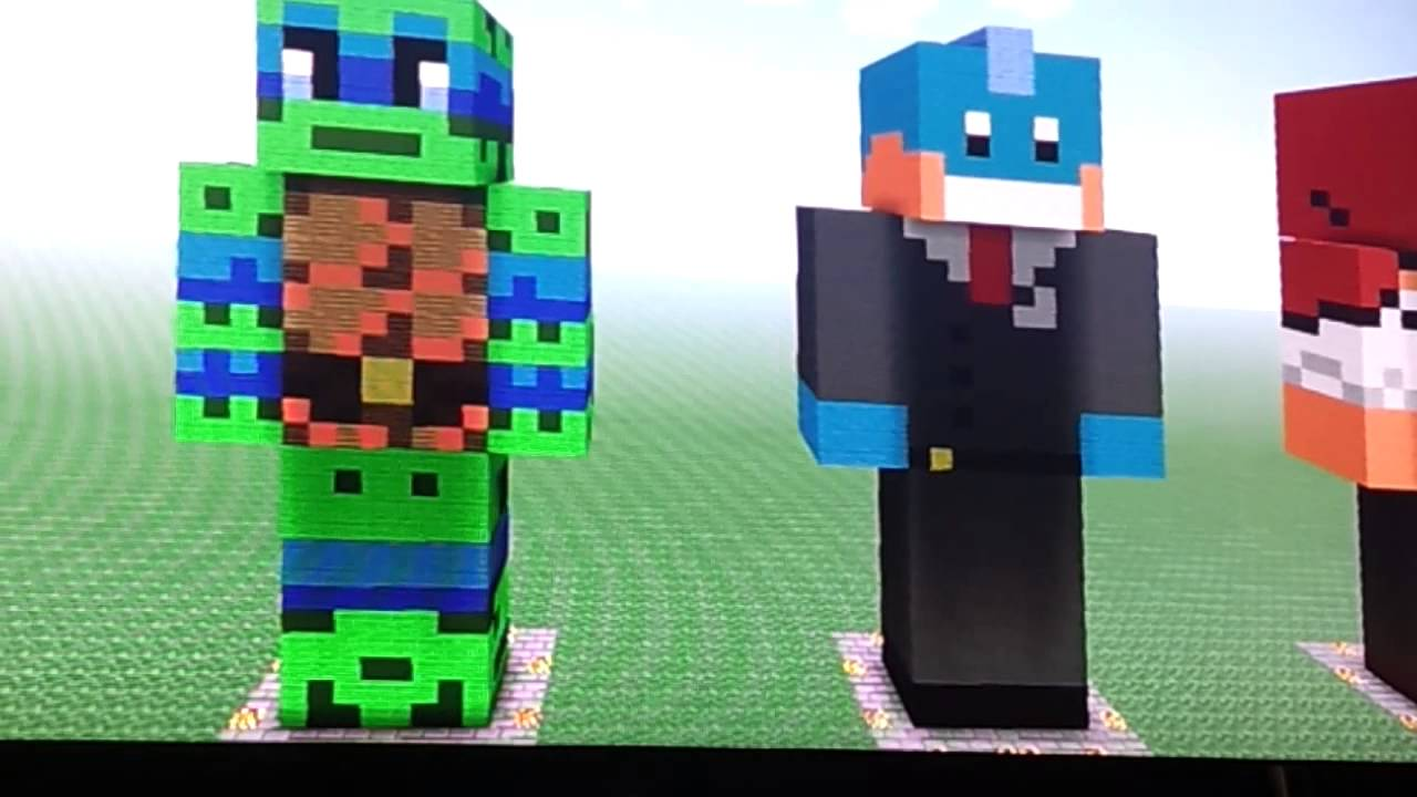 Youtubers Minecraft Statues