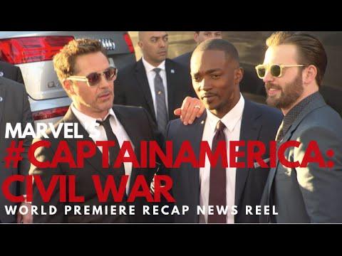 "Marvel's ""Captain America: Civil War"" World Premiere Red Carpet News Reel #CaptainAmericaPremiere"
