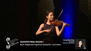 2017 Round #1 Competitor #2 J M Choi | Bach: Adagio and Fuga from Sonata No 1 in G minor