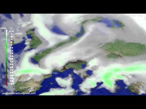 Precipitation forecast Europe 2015-01-29
