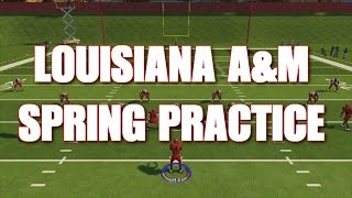 NCAA FOOTBALL 14 DYNASTY MODE - LOUISIANA A&M SPRING PRACTICE (ncaa 16 roster)