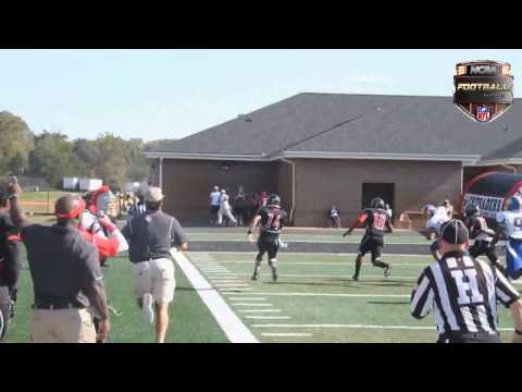 Nelson Hughes Catches Own Pass For A Touchdown (North Greenville University vs Mars Hill University)