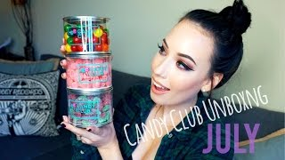 SNACK ATTACK: Candy Club Unboxing and Taste Test | lesleydoesmakeup