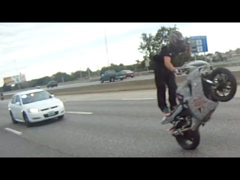 Motorcycle Wheelies Running From COPS Escapes POLICE CHASE Bike VS Cop VIDEO ROC Ride Of The Century