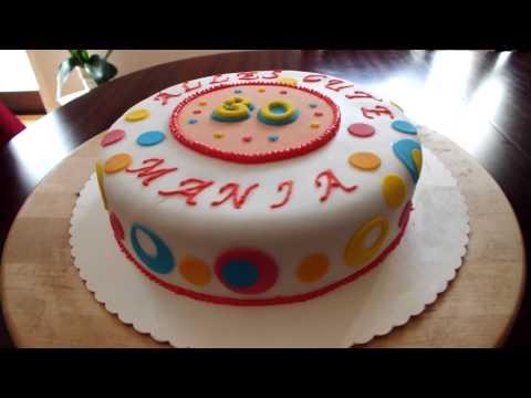 Torte mit Fondant dekorieren - YouTube