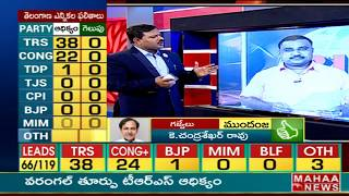 TRS  leads in first round counting - #TelanganaElectionResults2018  - netivaarthalu.com