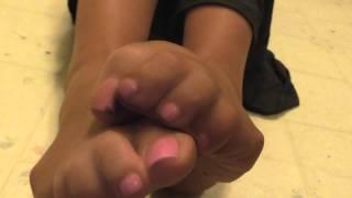 up close nylon toes