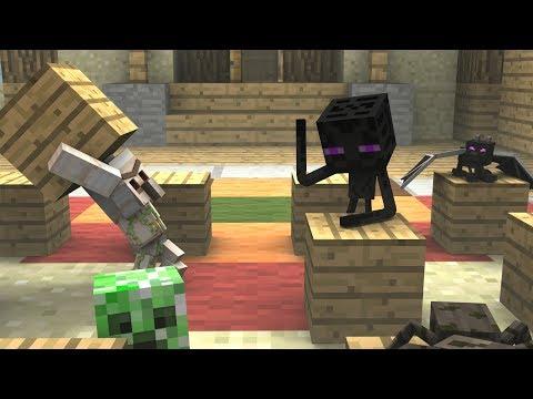 Monster School (Preschool) - Dodgeblock! - Minecraft Animation