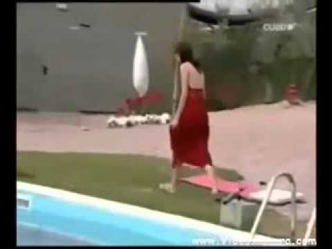 Fashion model falls off catwalk and into water Embarrassing moment