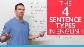 The 4 English Sentence Types – simple, compound, complex, compound-complex