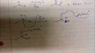 Tollens Reagent Silver Mirror Test Reaction  MECHA