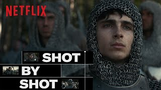 The King starring Timothée Chalamet - How the Battle Scene was Shot | Netflix