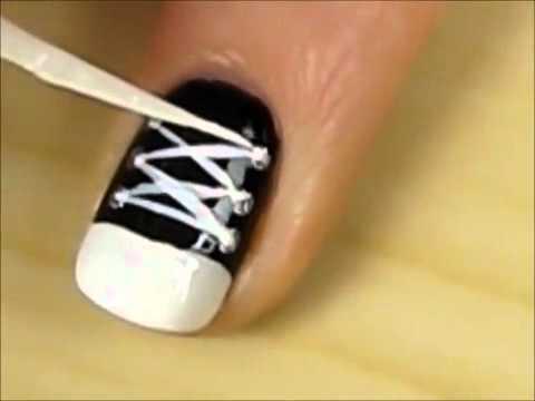 Маникюр своими руками на коротких ногтях видео