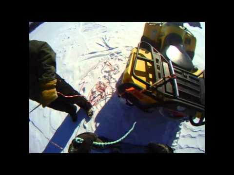 Snowboarding freestyle ish on Pelican Lake, WI