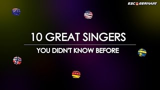 TOP 10 GREAT SINGERS, you didn