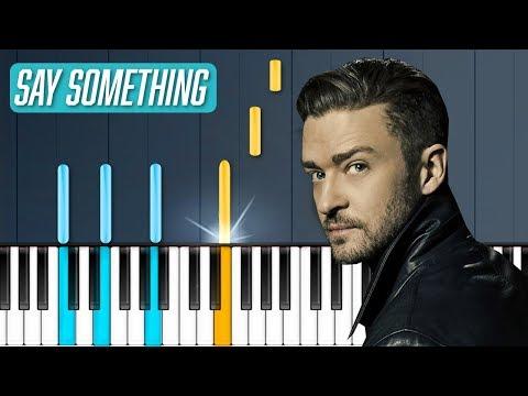 Justin Timberlake Say Something Ft Chris Stapleton Piano