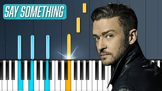 "Download Lagu Justin Timberlake - ""Say Something"" ft Chris Stapleton Piano Tutorial - Chords - How To Play - Cover Gratis STAFABAND"