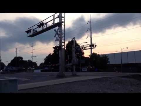 BNSF Dash 8's through Wauseon, OH leading military train east!