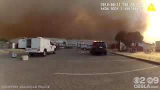 Bodycam Video Shows Officers Rescuing Animals From Fast-Moving Brush Fire