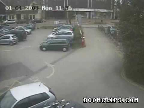 Car Park Barrier Goes Haywire